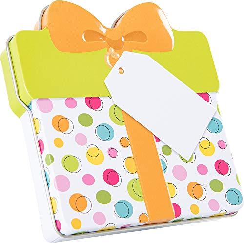 KHI Gutscheindose Geschenkdose Dose für Gutschein, Verpackung für Gutschein (Bunt)