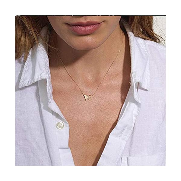 Turandoss Gold Layered Necklaces for Women – 14K Gold Plated Handmade Multilayer Bar Pearls Coin Disc Moon Butterfly Medallion Adjustable Dainty Layered Choker Necklaces for Women Jewelry