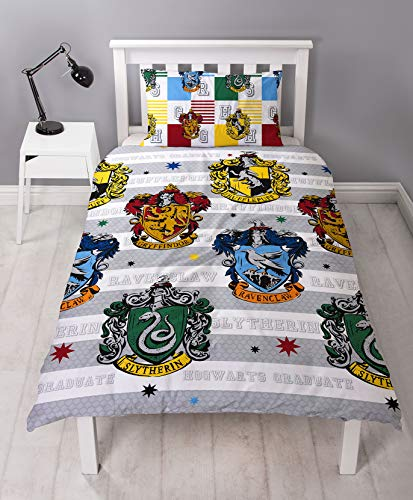 Harry Potter 'House Crest' Single Duvet Cover Set