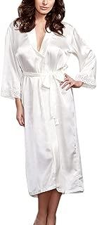 Makaor Women Kimono Robes Silk Nightgown Long Dressing Gown Babydoll Lingerie Bath Robe
