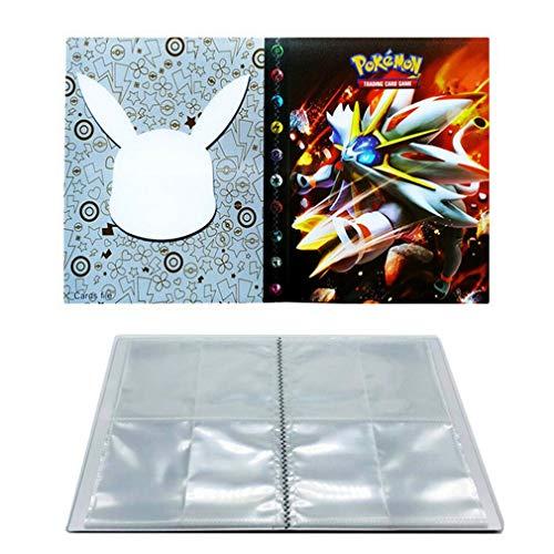 UHIPPO Álbumes para la Carpeta de Cartas Pokémon, Álbum para Cartas Coleccionables, Carpeta de Cartas de Pokémon, Álbum de Pokémon, Puede Contener 240 Cartas (Espalda con Espalda) (Solgaleo)