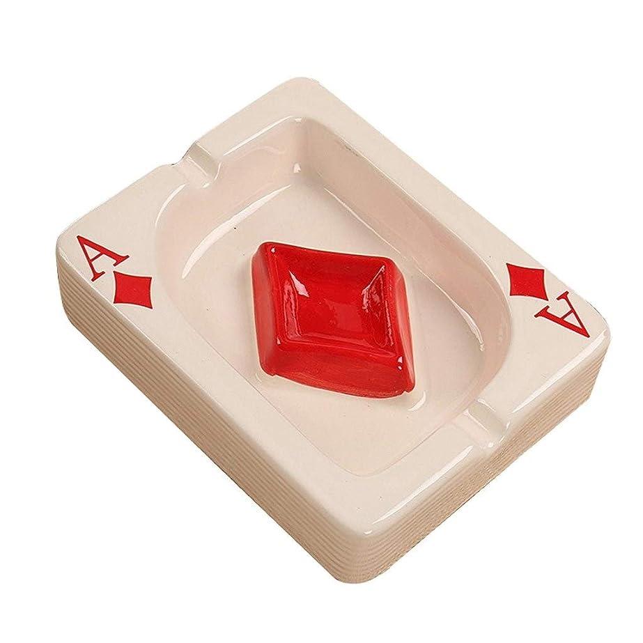 リラックス明快南西GookHeardUS 創造的なトランプのデザインかわいい灰皿、ミニ小さな灰皿、男性と女性に適した総本店(13.5 * 10.5 * 3.5 cm) (Color : C)