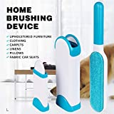 SADVIDHYA Pet Hair, Dust, Lint Remover Double Sided, Reusable Brush with Self-Cleaning Base for Clothing and Furniture, Couch, Carpet (Medium, Blue)