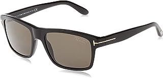 Tom Ford AUGUST FT 0678 SHINY BLACK/GREY 58/18/135 unisex Sunglasses