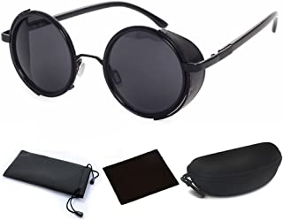 Best circle sunglasses with side shields Reviews