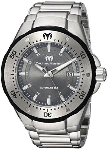 Technomarine 'Manta de los Hombres automático Reloj Casual Acero Inoxidable, Color: Silver-Toned (Modelo: tm-215094)