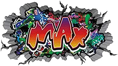Personalisiert Graffiti ziegel wand bunt vinyl sticker aufkleber wandkunst