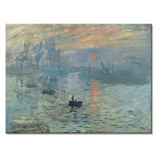 Wieco Art Impression Sunrise Canvas Prints Wall Art of Claude Monet Famous Oil Paintings