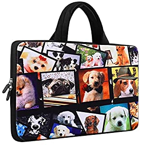 Laptop case with montage of dog photos