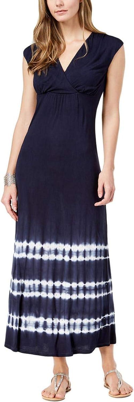 Inc Womens Embellished Tie Dye Maxi Dress