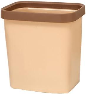 C-J-Xin Desktop Trash Can, Household Bathroom Kitchen Living Room Medium and Small Plastic Trash Can Office Creative Press...