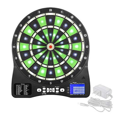 Dartscheibe Elektronisch mit LCD-Anzeige, Dartautomat Beleuchteten mit 48 Spiele und 300 Spielweise, E Dartscheibe für bis zu 16 Personen