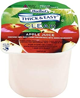Thick & Easy Clear Thickened Apple Juice, Nectar Consistency, 4 Ounce