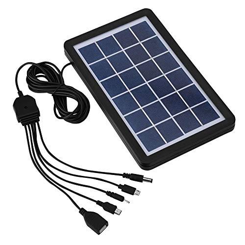 Panel Solar, 6V 5-en-1 Soporte de Panel Solar policristalino de Alta eficiencia 93% de transmisión, 18% de tasa de conversión Placa Solar para caravanas, autocaravanas, autocaravanas, Barcos.