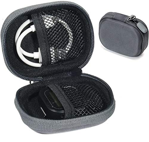 CaseSack case for Golf GPS Like GolfBuddy Voice, Voice 2, Bushnell NeoGhost, Garmin 010-01959-00 Approach G10,Mesh Pouches on Both lid and Base for GPS and Cable separatedly (Polyester Gray)