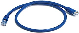 Monoprice 2FT 24AWG Cat6 550MHz UTP Ethernet Bare Copper Network Cable - Blue