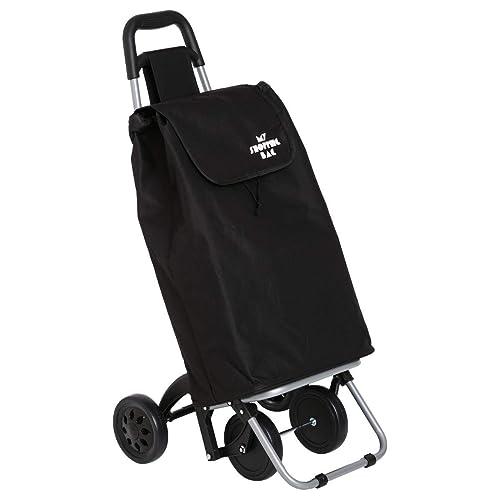 Chariot de marché 4 roues – Plus stable – Pliable pour un gain de place - Capacité 30L