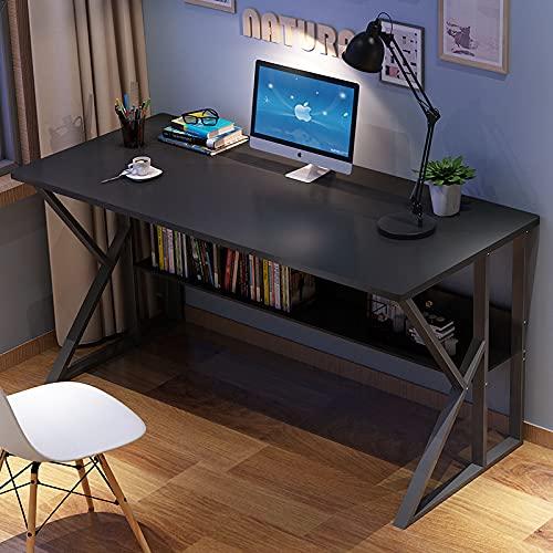 Escritorio con estante para ordenador, escritorio para casa, escritorio moderno, escritorio para dormitorio, mesa de estudio, mesa blanca