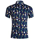 Camisa Hawaiana para Hombre Camisa De Playa Jinyuan Camisa De Manga Corta De Verano Funky para Hombre Camisa CláSica Floral Estampado Informal Ajuste Regular
