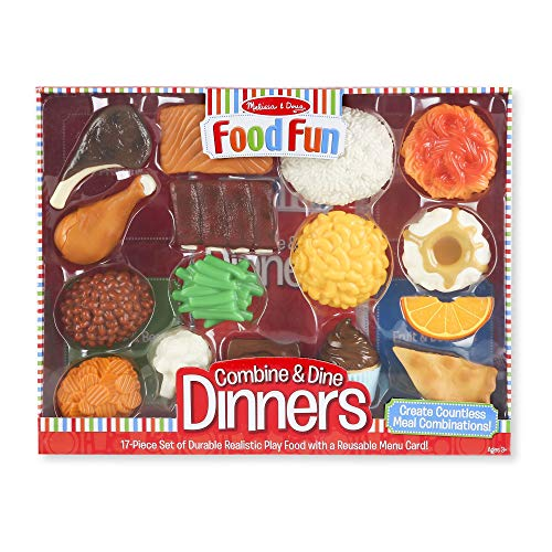 Melissa & Doug Food Fun Combine And Dine Dinners - Red
