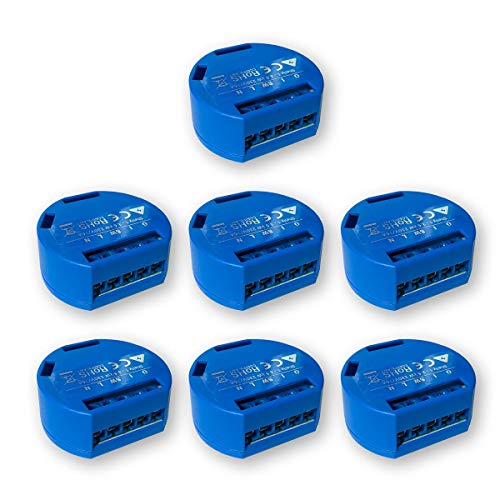 SHELLY 1 One Relay Switch Wireless WiFi Home Automation iOS Android Application(7 Pack UL)