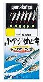 がまかつ Gamakatsu 小アジサビキレインボーサバ皮6本 S503 3号-ハリス0.4. 45300-3-0.4-07