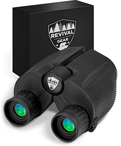 Binoculars for Adults: Best Small Compact Powerful Vision Prism Binocular Tactical Hunting Gear. Bird Watching Field Glasses Gift Ideas Men Boys Dad Gifts Him Kids Women. Harness Strap & Case (10X25)