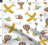 Eichhörnchen, Hubschrauber, Luftballon, Segelflugzeug