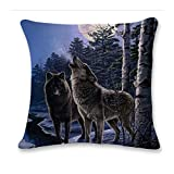 SHINEHUA 3D Netter Wolf Sofa Bett Zuhause Dekoration Festival Kissenbezug Kissen Dekorative Home...