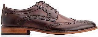 Base London Calibre en cuir formelle Casual Homme Slip-On Mocassins Chaussures Noir