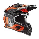 O'NEAL | Casco de Motocross | MX Enduro | ABS Shell, Estándar de Seguridad ECE 2205, Ventilación para una óptima ventilación y refrigeración | 2SRS Youth Helmet Slick | Niños | Naranja Negra | Talla M