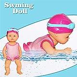 Onlyonehere Born Baby Badepuppe,Schwimmpuppe Baby Puppe mit Schwimm Funktion, Wasserspielzeug für die Badewanne Wasserdichtes Baby-Badespielzeug für Heimdekorationen Geburtstagsgeschenke
