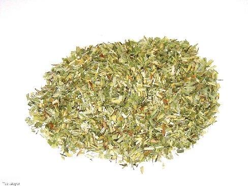 Grüner Haferstroh geschnitten 1 kg Vorratspack offen Tee-Meyer
