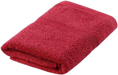 Wilson Gabor Handtuchset: Handtuch aus Baumwoll-Frottee 50x100cm, rot (Duschtuch Baumwolle)