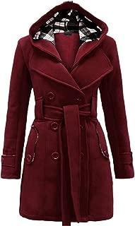 Women's Autumn Winter Double Plus Size Coat Mid Length Outwear Trench