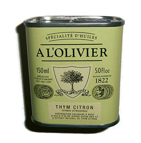 Olivenöl mit Zitronenthymian, aromatisiertes Olivenöl aus Frankreich, A L'OLIVIER, 150ml Metalldose