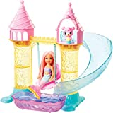 Barbie Dreamtopia Mermaid Playground Playset, with Chelsea Mermaid Doll, Merbear Friend Figure and Sand Castle Set with Swing, Slide, Pool and Tea Party, Gift for 3 to 7 Year Olds​​​​