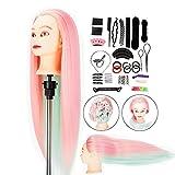 Testina per parrucchiere Neverland 28 '' 100% fibra sintetica Manichino per capelli Testa ...