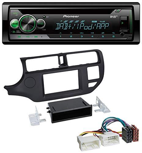 caraudio24 Pioneer DEH-S410DAB USB MP3 DAB AUX CD Autoradio für Kia Rio (UB 2011-2014) schwarz