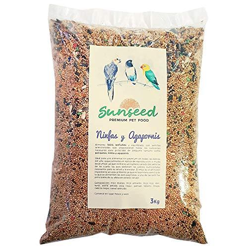 Sunseed Alimento para Ninfas y Agapornis, periquitos 3 Kg
