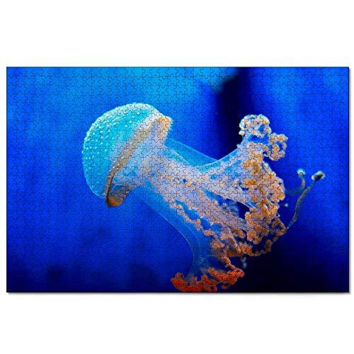 Italien Aquarium von Genua Puzzle für Erwachsene 1000 Stück hölzernes Reisegeschenk Souvenir 30x20 Zoll