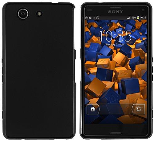 mumbi Hülle kompatibel mit Sony Xperia Z3 Compact Handy Case Handyhülle, schwarz