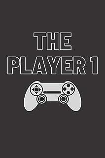 Gamer Gift Player 1 Notebook | Player 1 player 2 controller themed journal notebooks for boyfriend, girlfriend, husband, w...