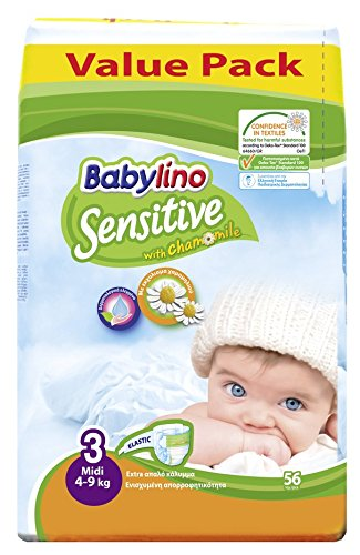 Pannolini Babylino Sensitive ECONOMY: Taglia 3 - da 4 a 9 Kg./ 56 PCS