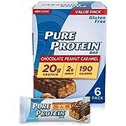 Pure Protein Chocolate Peanut Caramel, 50 gram, 6 count