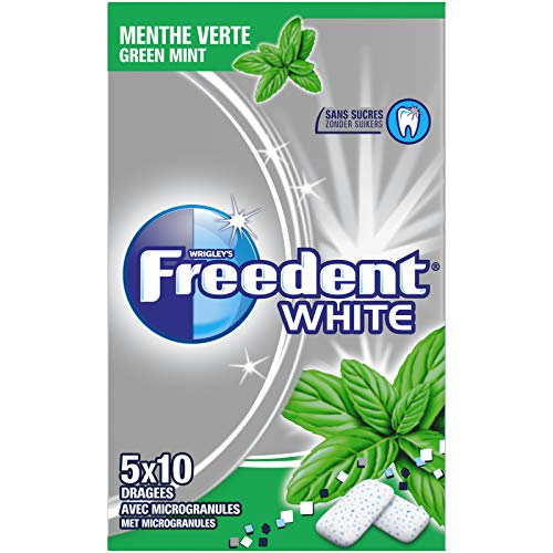 """Freedent Dragées """"White"""" Multipack de 5 étuis de 10 dragées White Menthe Verte"""