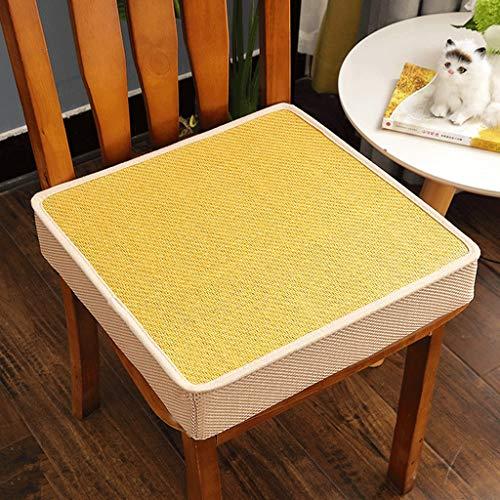 Zitkussen hoekig antislip, zachte beschermer van traagschuim voor het zomer-zitkussen van rotan, afneembaar en wasbaar 45×45×5CM D