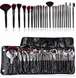 WOCTP Make-up-Pinsel-Set, 26-teilig, synthetisch, Kabuki, Foundation, Pinsel, Puder, einfach, mit...