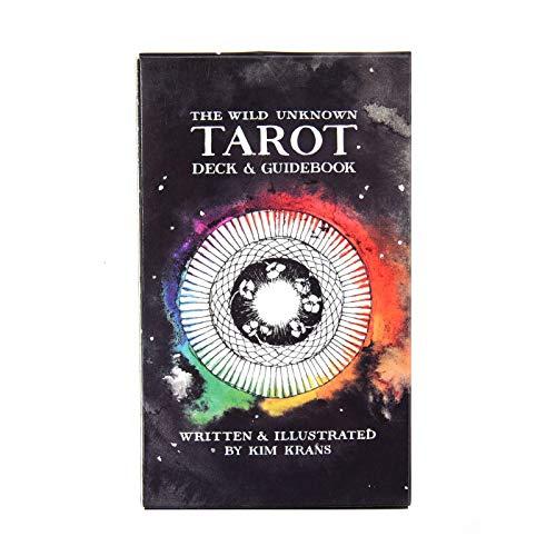 BEP 78 Tarotkarten, The Wild Unknown Tarot Deck Sets Mit Farbbox Geeignet Für Anfänger Brettspiel, Englische Version