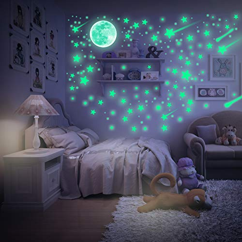 Glow in The Dark Stars for Ceiling, Kmeivol Glow in The Dark Stars, 624 Pcs Glow in The Dark Stickers, Stars for Ceiling or Wall Stickers, Ceiling Stars Perfect for Kids Bedroom Living Room Decoration